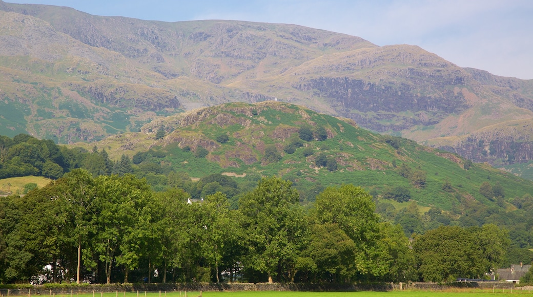Coniston Water showing mountains