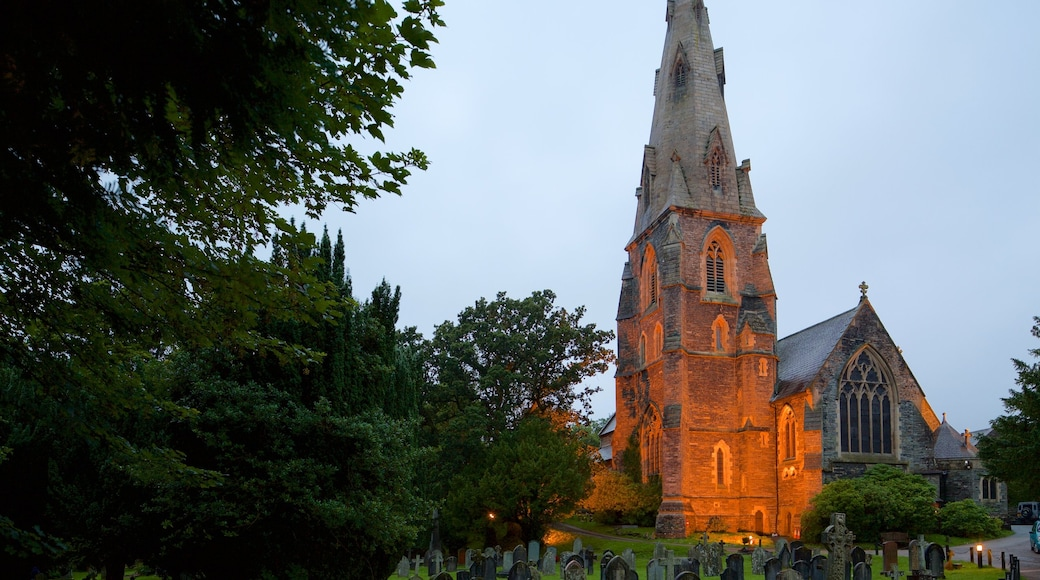 Church of St Mary featuring a church or cathedral and night scenes