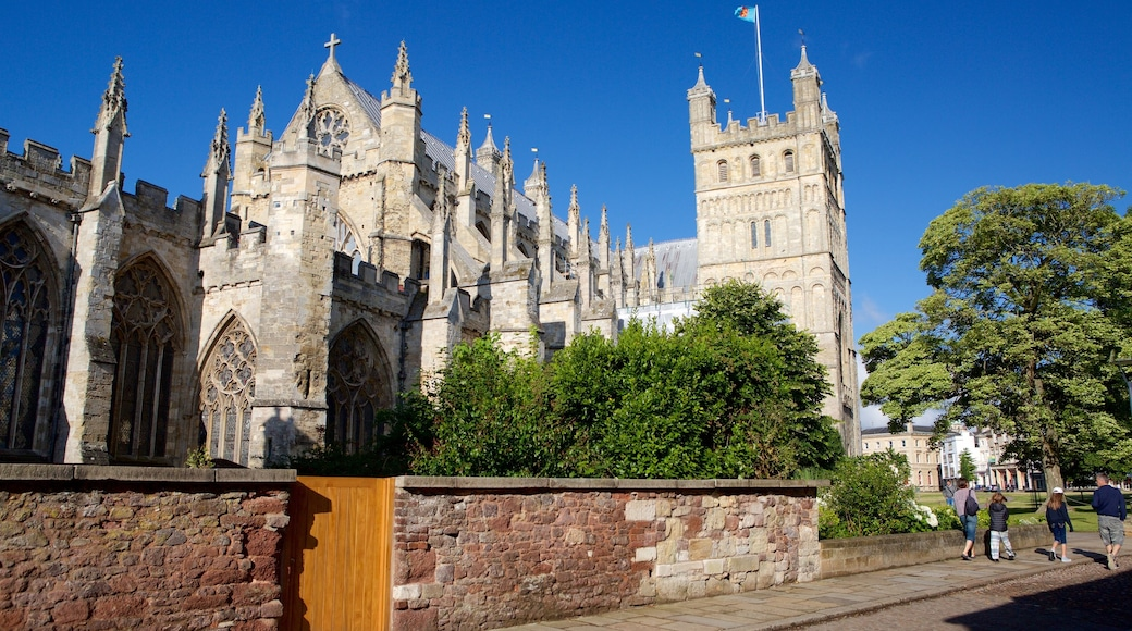 Exeter Cathedral showing heritage architecture and a church or cathedral
