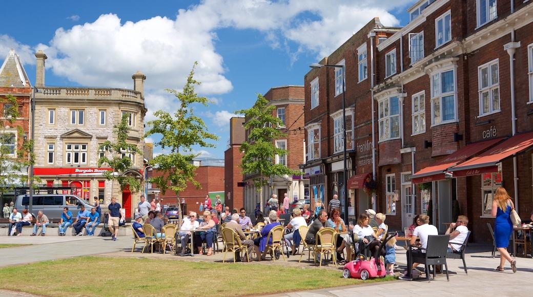 Exmouth inclusief cafés, buiten eten en straten