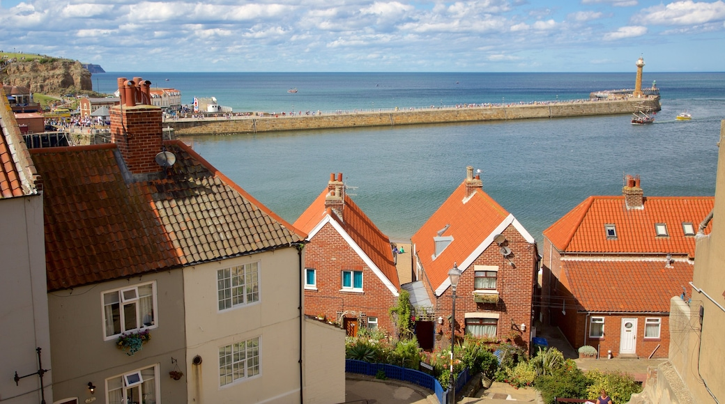 Whitby showing general coastal views, street scenes and a small town or village