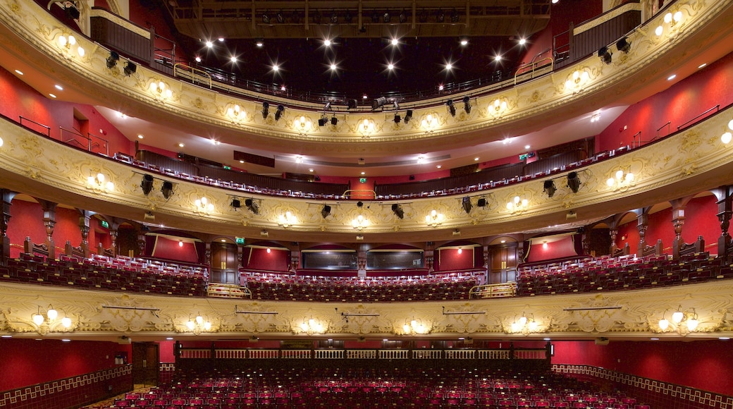 Newcastle-upon-Tyne Theatre Royal showing interior views and theatre scenes