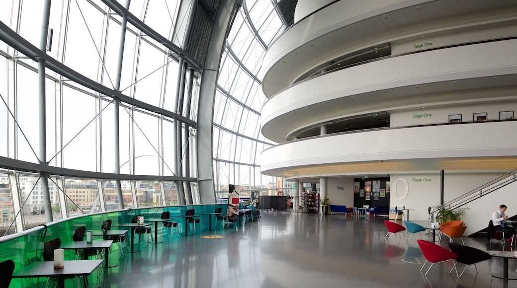 Sage Gateshead which includes interior views and modern architecture