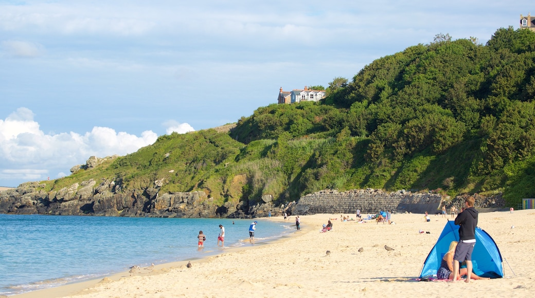 Porthminster Beach featuring swimming and a sandy beach