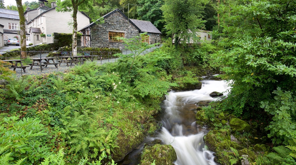 Ambleside featuring a river or creek and a small town or village