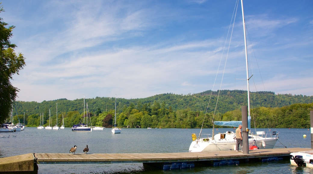 Bowness-on-Windermere which includes a lake or waterhole and boating