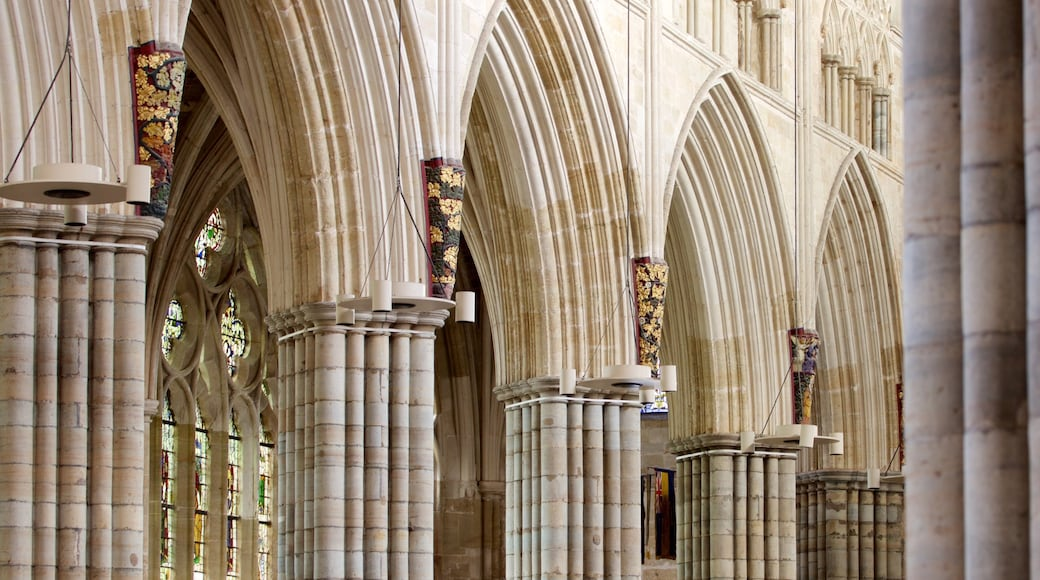 Exeter Cathedral which includes interior views