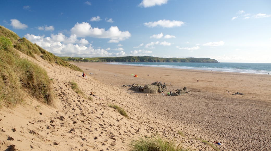 Woolacombe featuring landscape views and a sandy beach