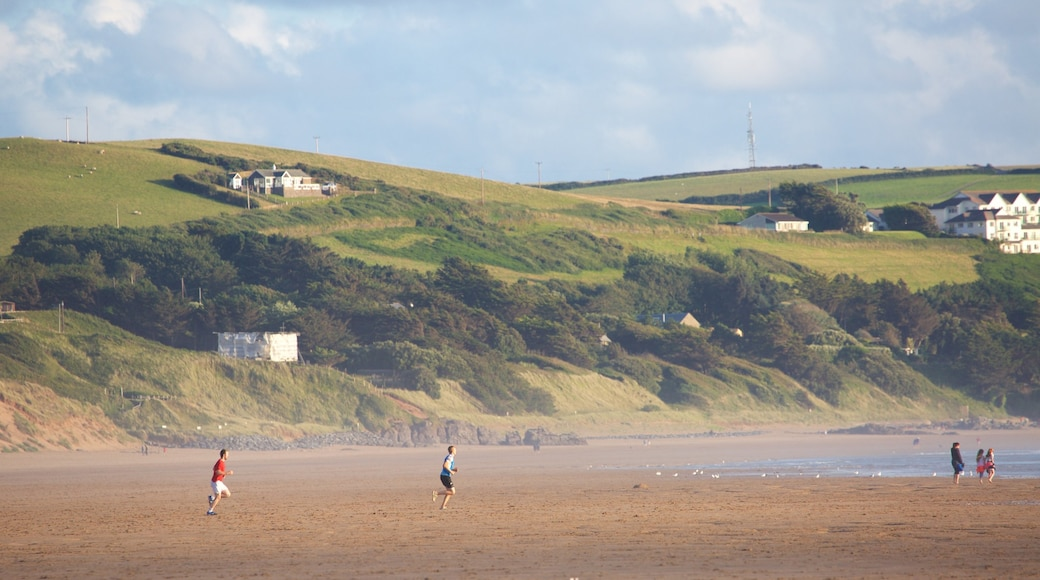 Woolacombe showing a beach and tranquil scenes