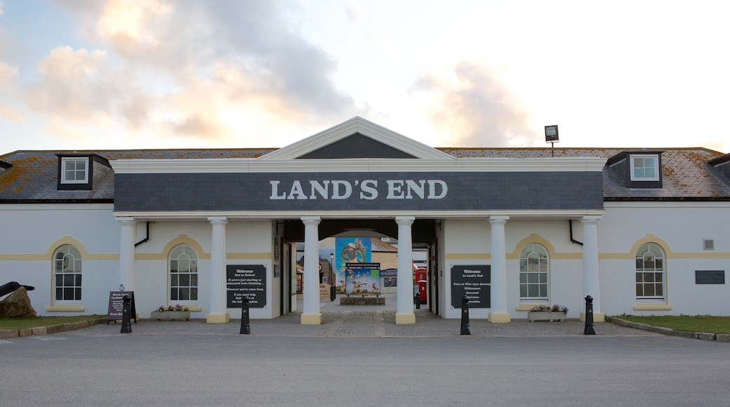 Land\'s End featuring signage