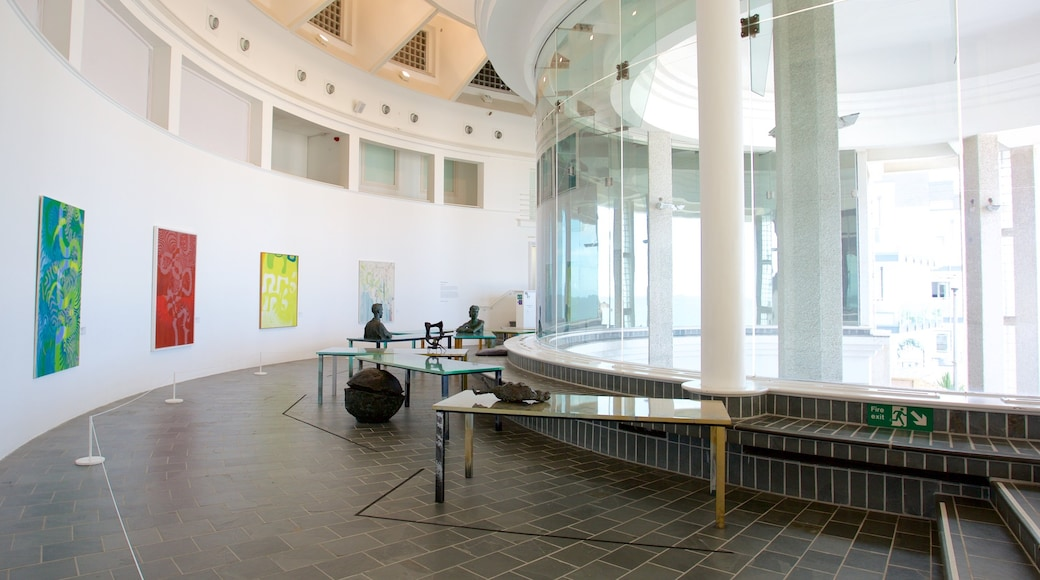 Tate St. Ives showing interior views and art