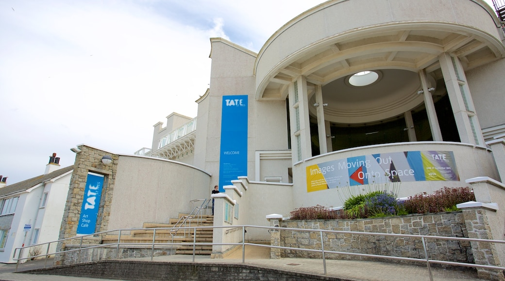 Tate St. Ives showing signage and heritage architecture