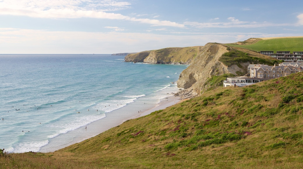 Watergate Bay featuring tranquil scenes, a house and rugged coastline