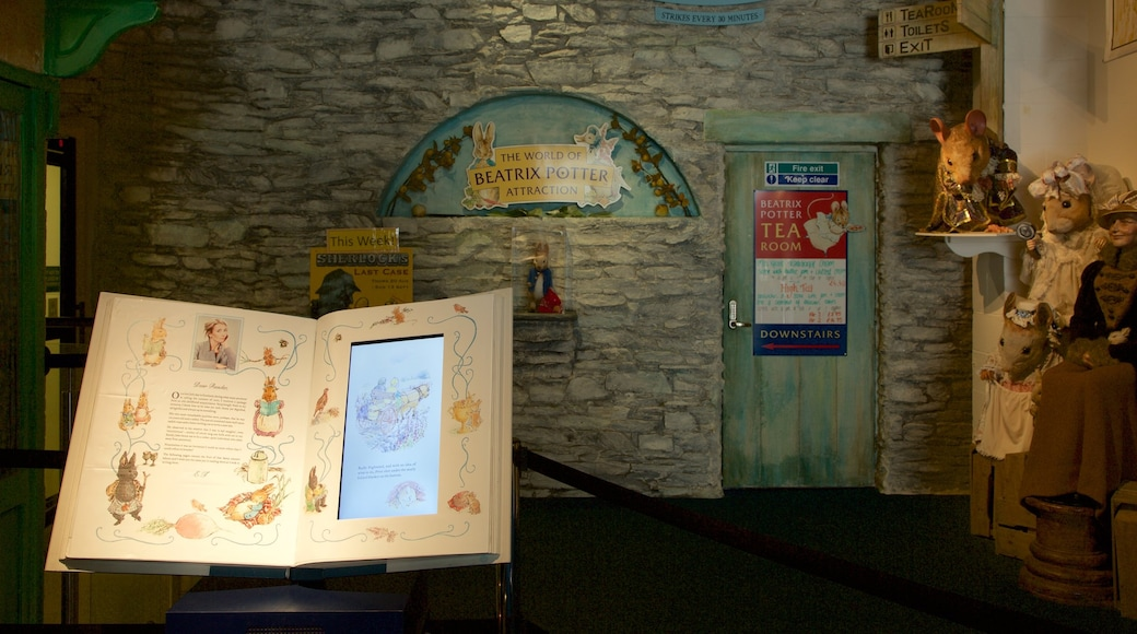 World of Beatrix Potter showing interior views and signage