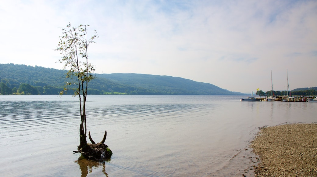 Coniston Water which includes a pebble beach and a bay or harbour