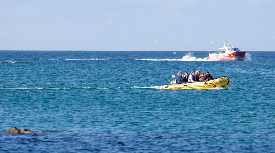 Porthminster Beach featuring boating and general coastal views