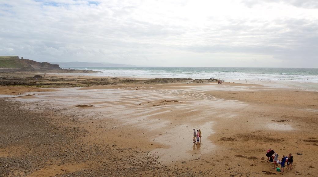 Crooklets Beach showing general coastal views