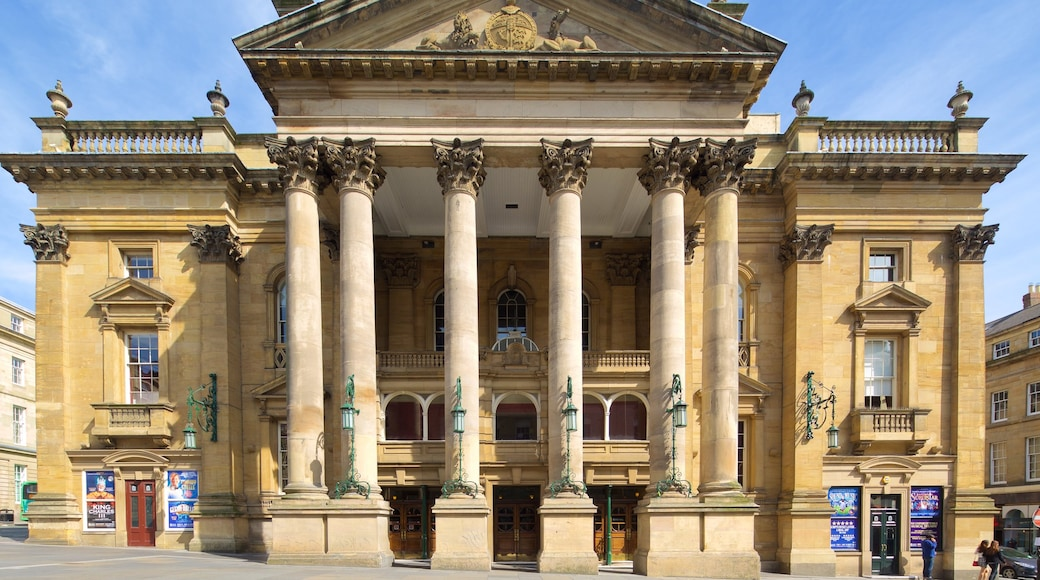 Newcastle-upon-Tyne Theatre Royal featuring theatre scenes and heritage architecture