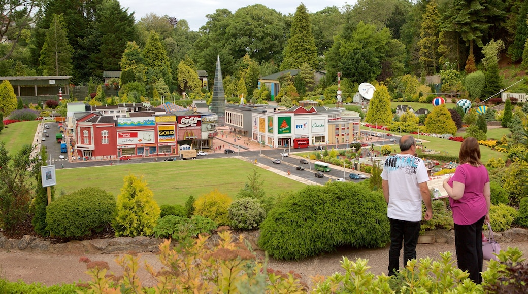 Babbacombe Model Village and Gardens featuring a small town or village, a garden and outdoor art