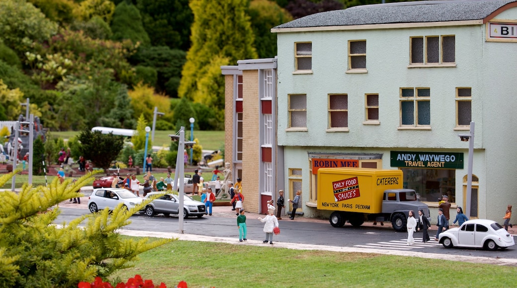 Babbacombe Model Village and Gardens which includes a small town or village, a garden and outdoor art
