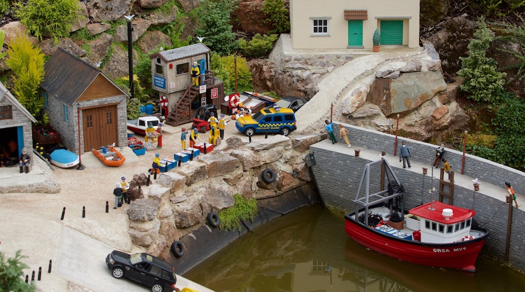 Babbacombe Model Village and Gardens which includes boating and a small town or village
