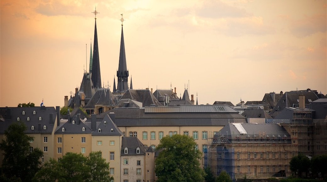 Luxembourg which includes a church or cathedral