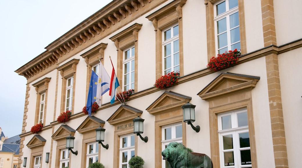 Rathaus Luxemburg das einen Verwaltungsgebäude, Geschichtliches und historische Architektur