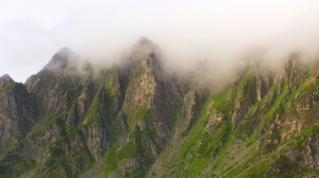 Andoy which includes mist or fog and mountains