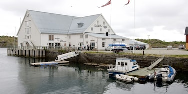 Hurtigruten Ferry Terminal Stamsund featuring boating and a small town or village