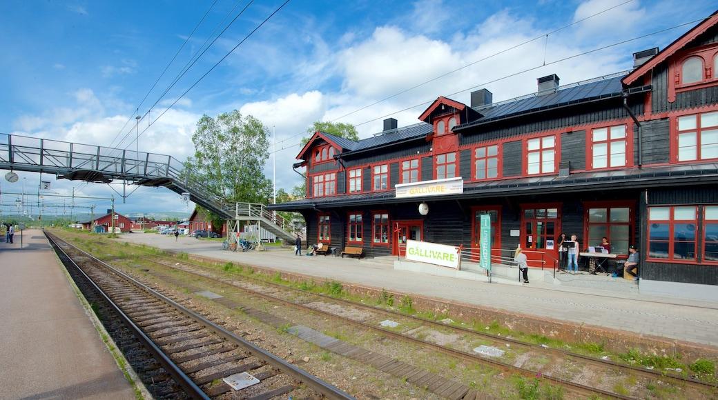 Gällivare som visar järnvägsobjekt