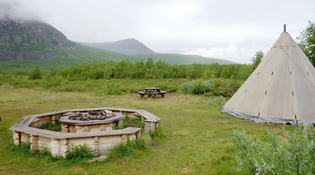 Kebnekaise fasiliteter samt camping
