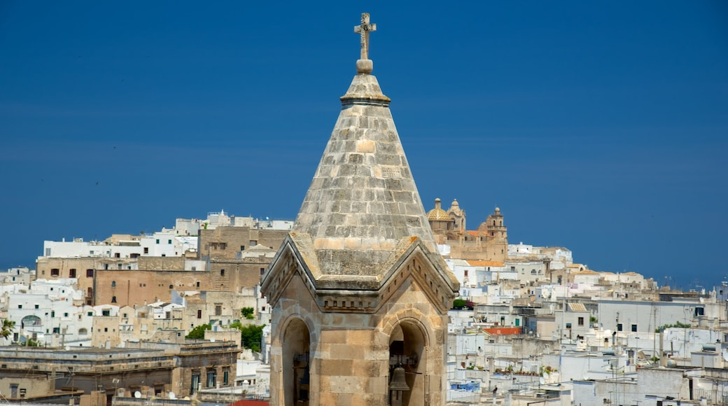 Brindisi featuring religious aspects and a city