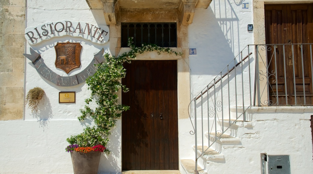 Brindisi showing signage and heritage architecture