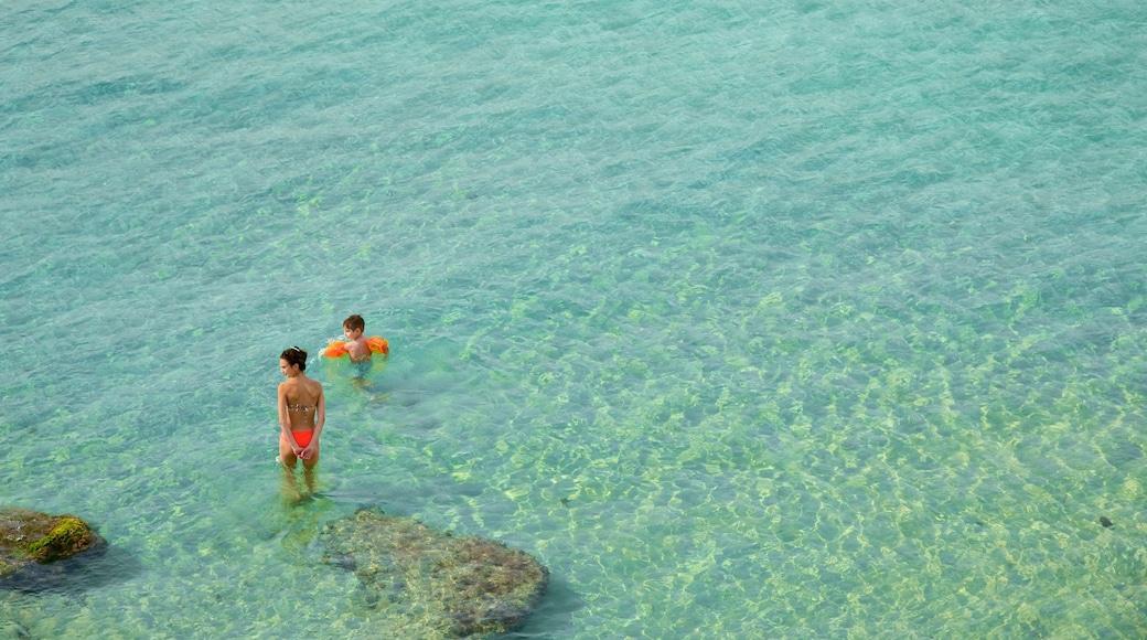 Lecce welches beinhaltet allgemeine Küstenansicht sowie Kinder