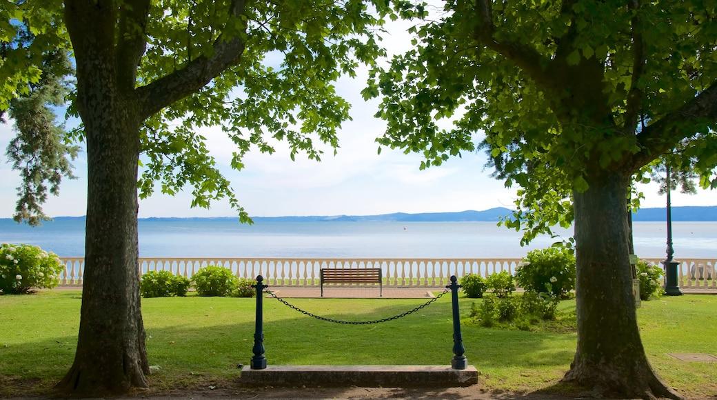 Lago de Bolsena que incluye un parque