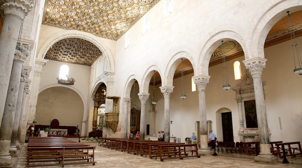 Otranto Cathedral showing heritage architecture, interior views and religious aspects