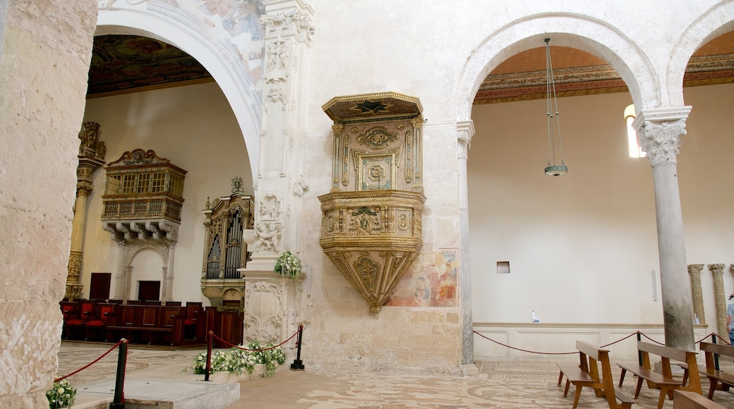 Otranto Cathedral featuring religious elements, heritage architecture and interior views