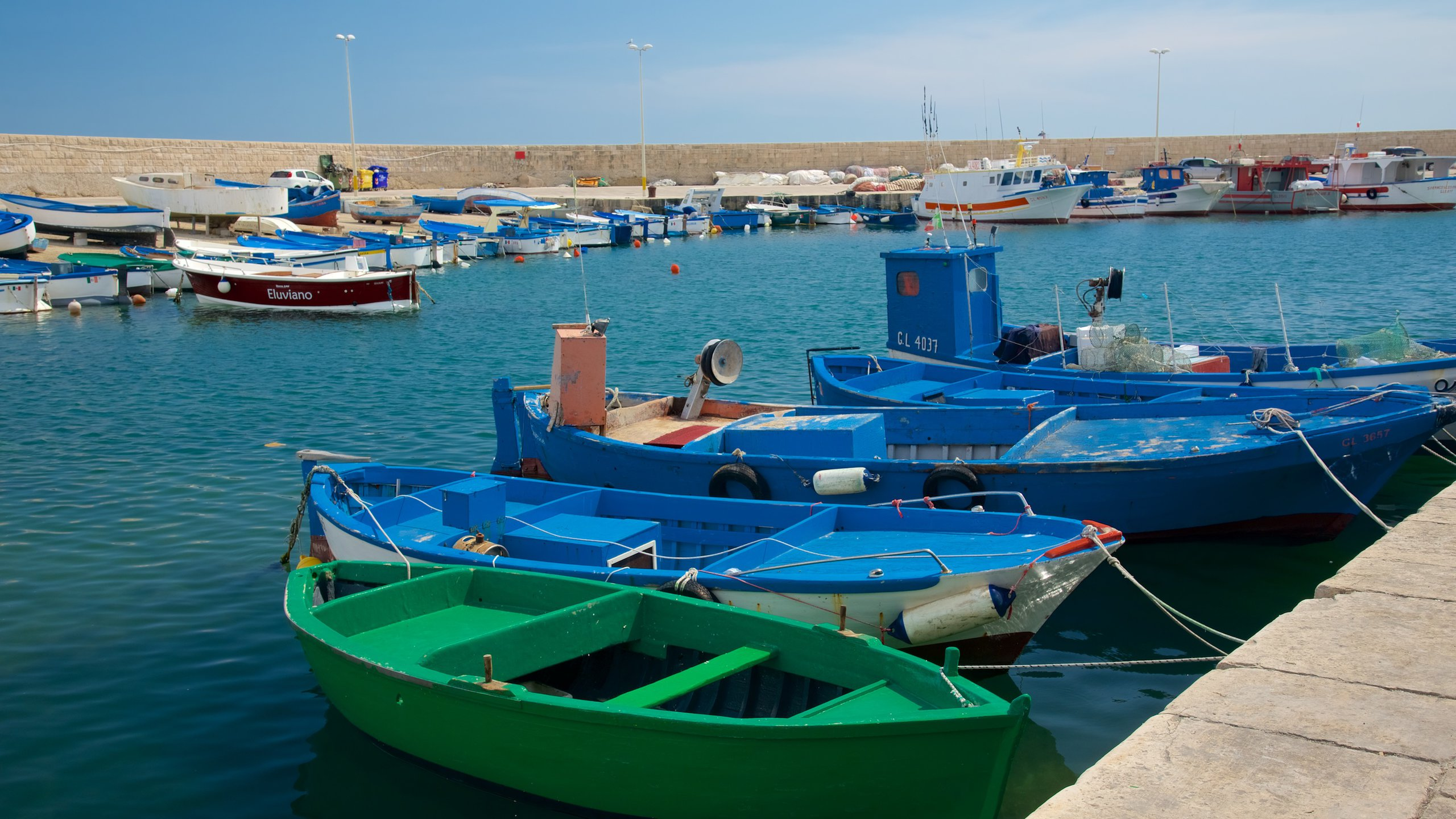 Hafen von Gallipoli, Gallipoli, Apulien, Italien