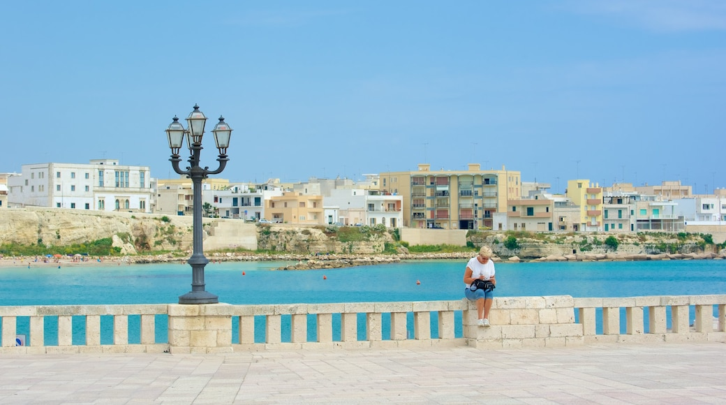 Otranto Waterfront which includes a coastal town
