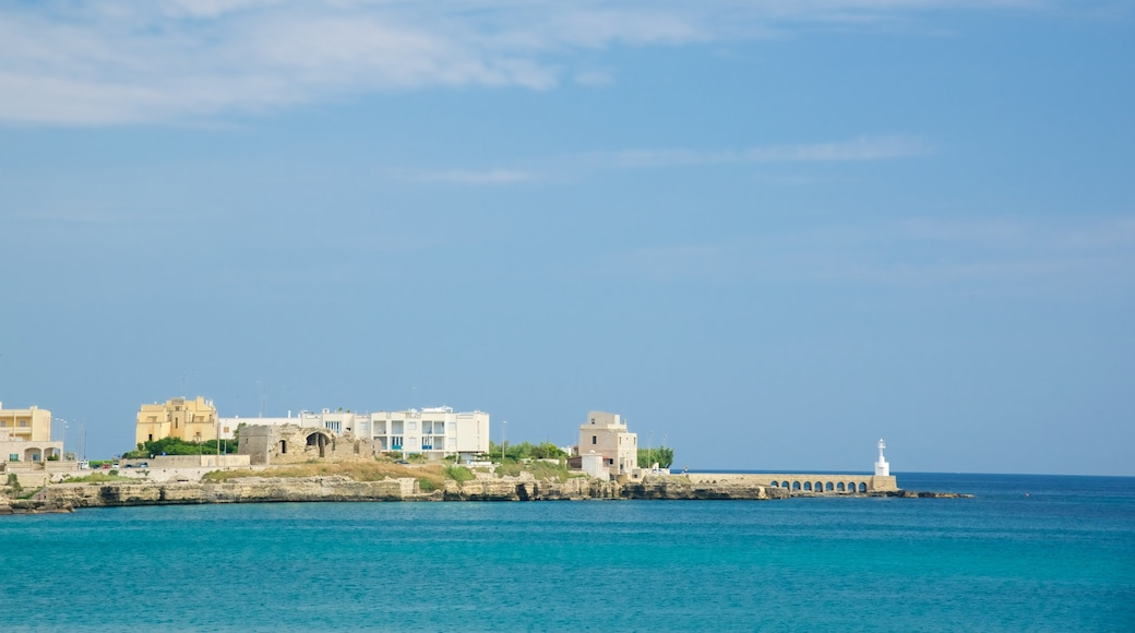 Otranto Waterfront which includes general coastal views and a city