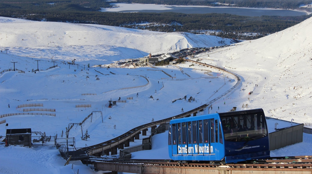 Cairngorm Ski Resort which includes snow and railway items