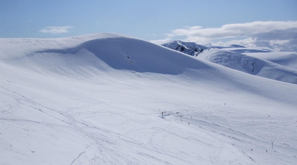 Cairngorm Ski Resort showing snow and mountains