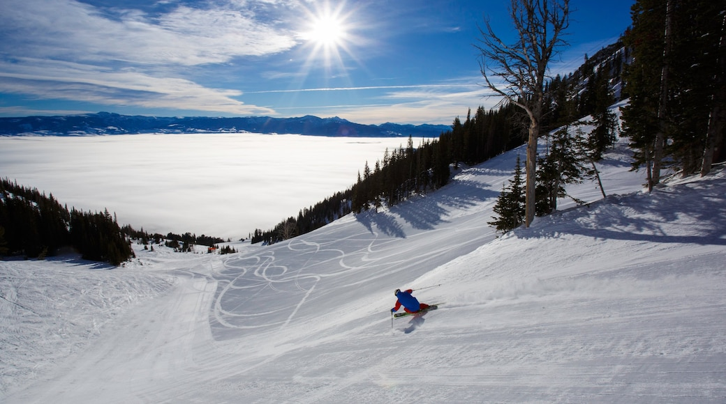 Jackson Hole Mountain Resort featuring mountains, snow skiing and snow