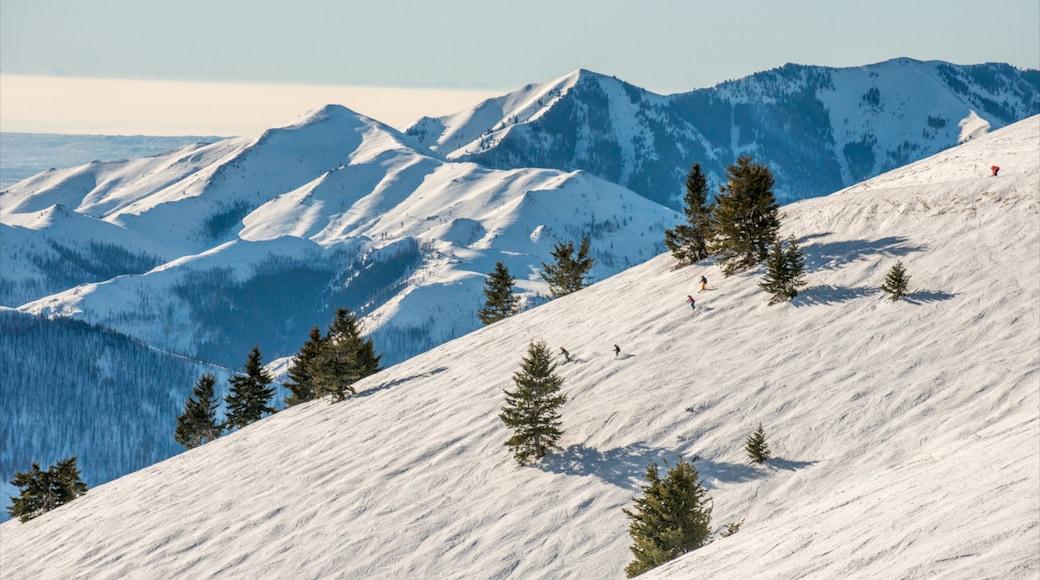 太陽谷滑雪渡假村 设有 下雪 和 山