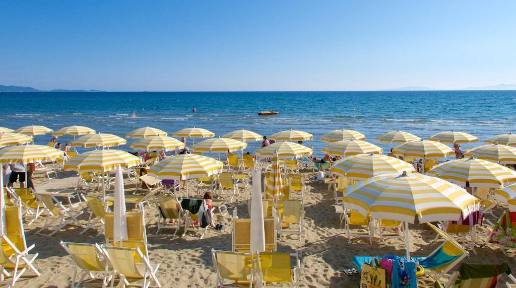 Follonica mostrando vista della costa e spiaggia