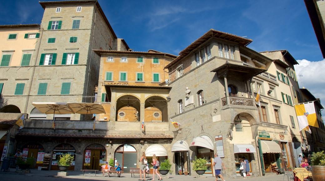 Cortona mostrando architettura d\'epoca
