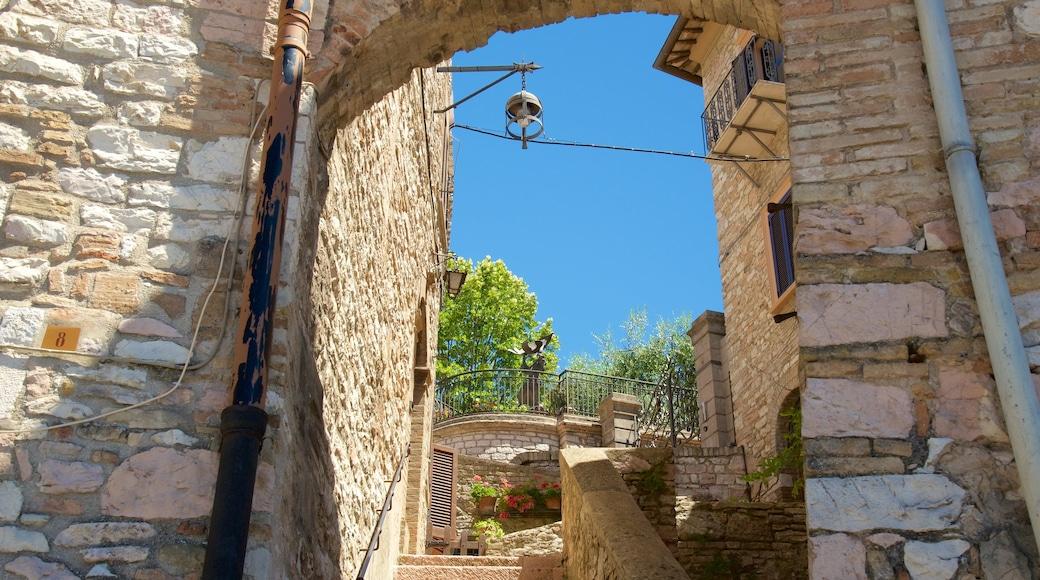 Assisi che include piccola città o villaggio