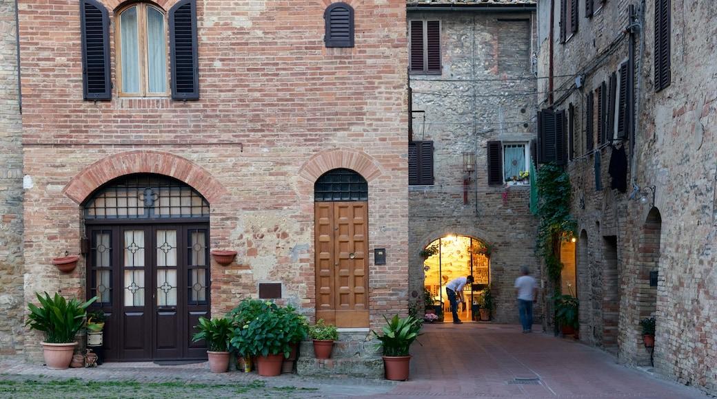 San Gimignano das einen Haus und Kleinstadt oder Dorf