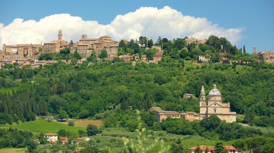 Montepulciano qui includes panoramas, patrimoine architectural et ville