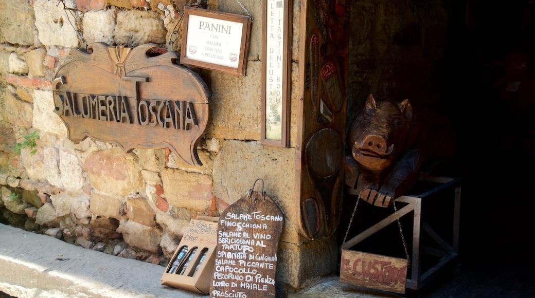 Montepulciano mettant en vedette signalisation